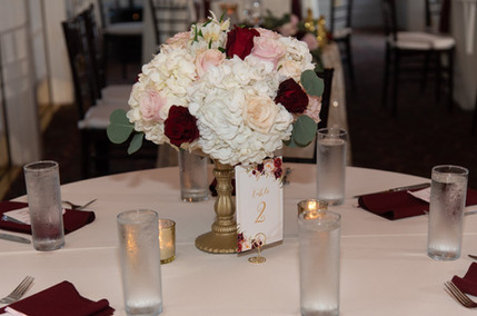 Dr. Phillips House - Table Centerpieces Set-up by The Bridal Binder