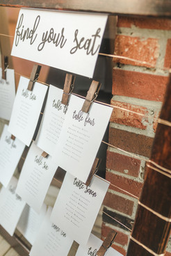 DIY Table Assignment Sign