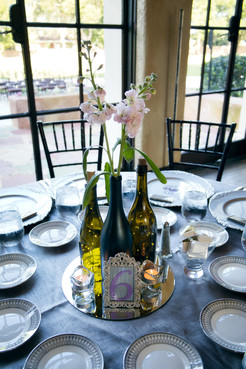 The Howey Mansion - Table Centerpieces / Reception Set-up by Laura, The Bridal Binder