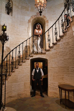 The Howey Mansion - Bride and Groom