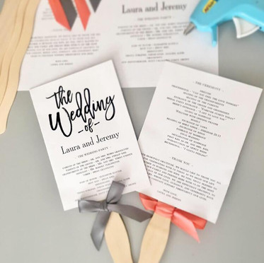 DIY Wedding Ceremony Fans