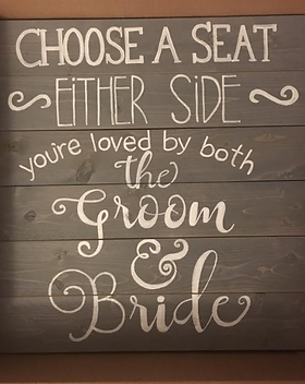 Choose a seat not a side wood sign decor