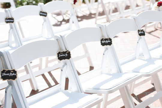 Dr. Phillips House - Reserved Ceremony Chairs