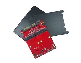 """E2SS-32R1 2.5"""" to Dual SATA III RAID Module"""