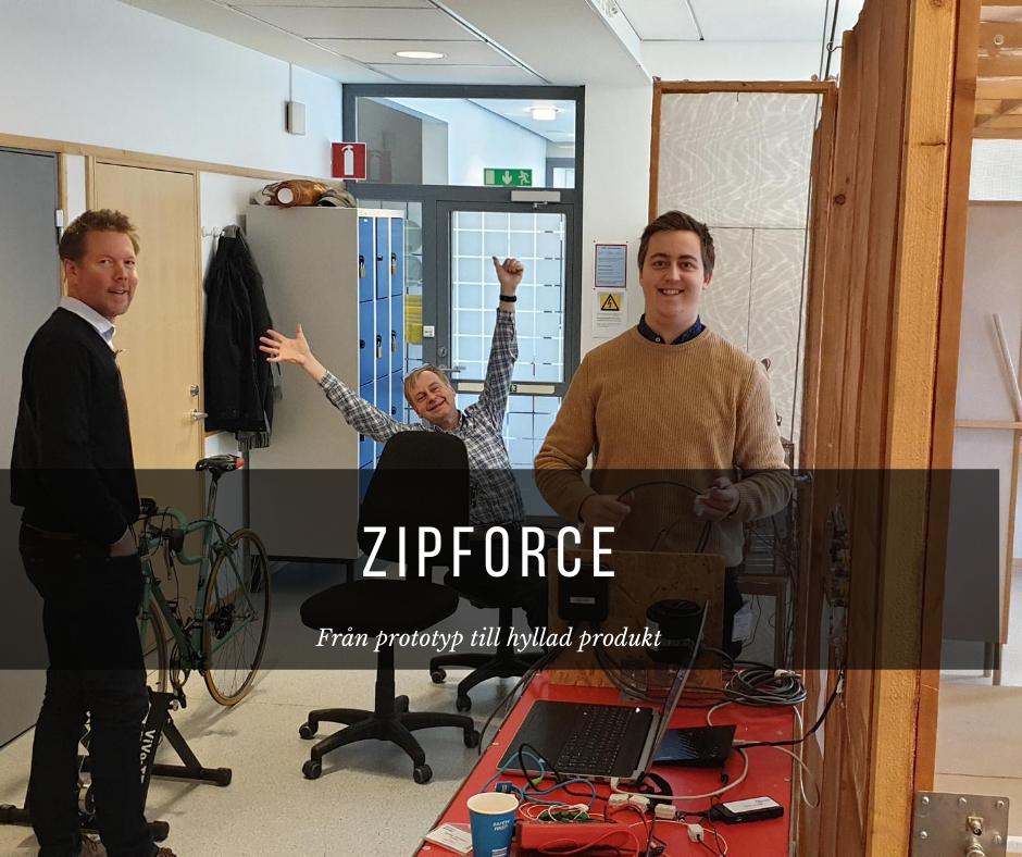 Tritechs ingenjörer jobbar med Zipforce