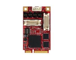 EMP2-X404 mPCIe to four RS-232/422/485 Module