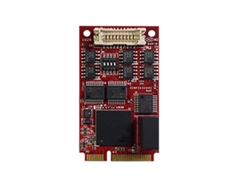 EMP2-X4S2 mPCIe to two Isolated RS-422 & RS-485 Module