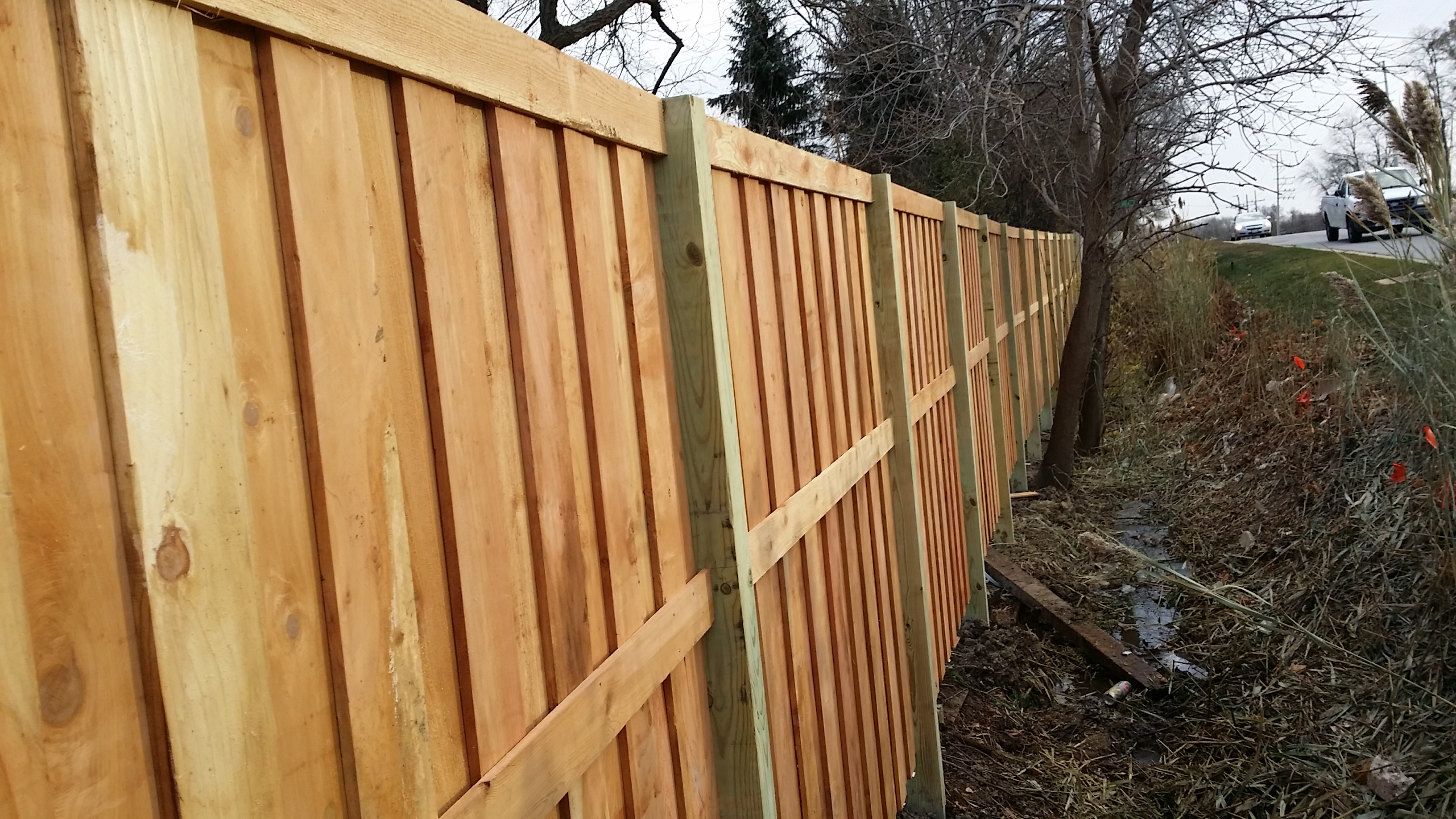 Board&batten with treated posts