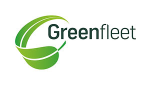Curled green leaf to the left of the words Greenfleet