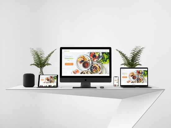 Limestone Diner website UI