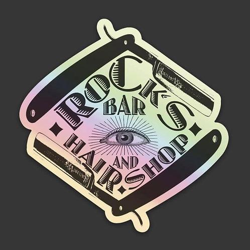 Rock's Logo Holographic Sticker