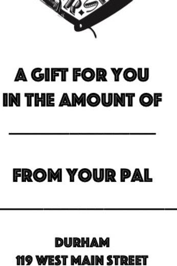 Gift Certficate