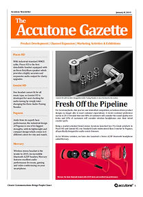 Accutone Newsletter Jan 2015