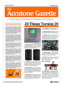 Accutone Newsletter September 2015