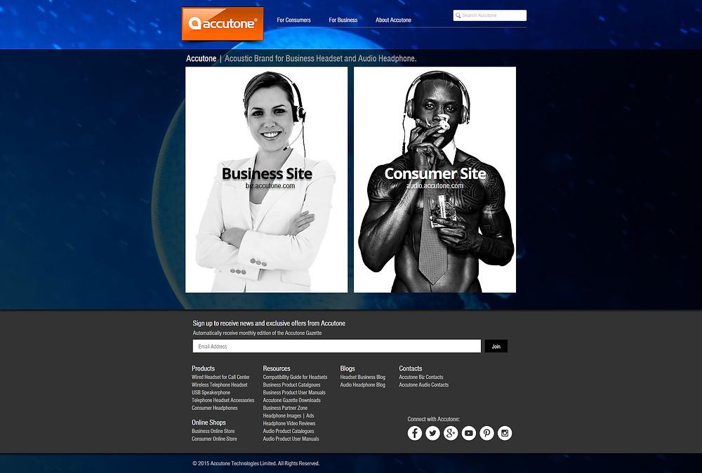 accutone.com main page