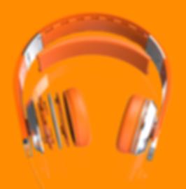 Pisces Band Headphone in Orange