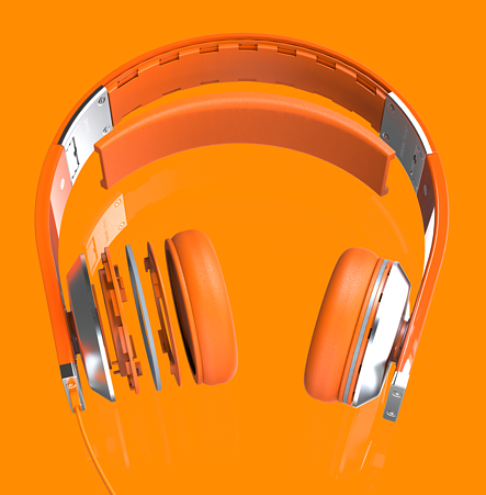 Pisces Band Headphone in Orange