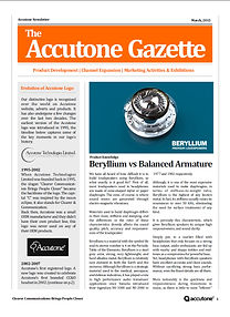 Accutone Newsletter Mar 2015