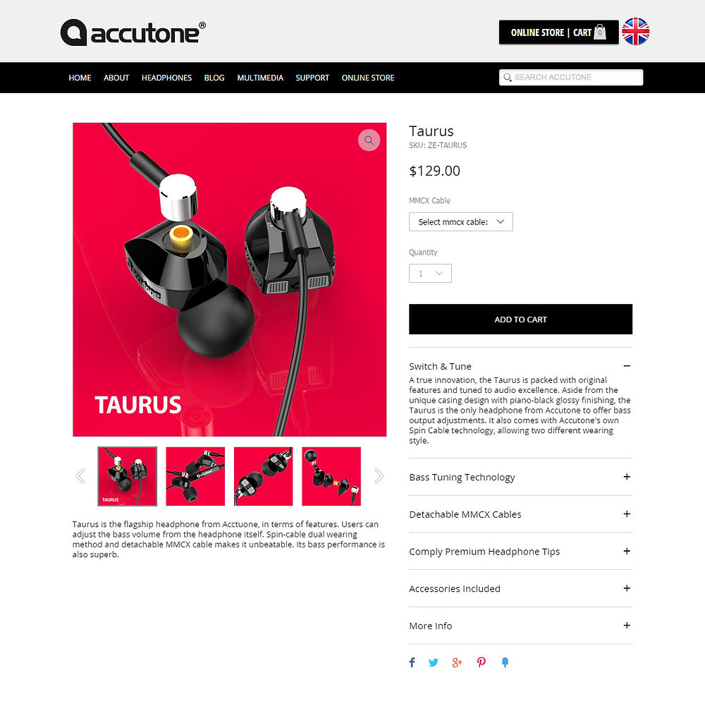 Headphone Shopping Page