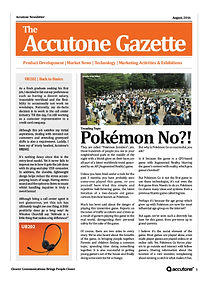 Accutone Newsletter August 2016