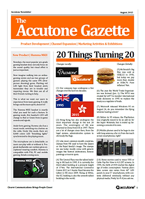 Accutone Newsletter August 2015