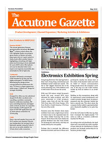 Accutone Newsletter May 2015