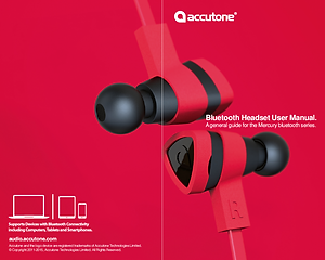 Accutone Bluetooth User Manual