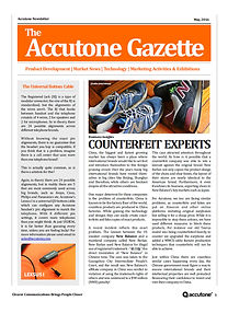 Accutone Newsletter May 2016