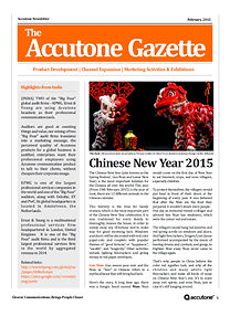Accutone Newsletter Feb 2015
