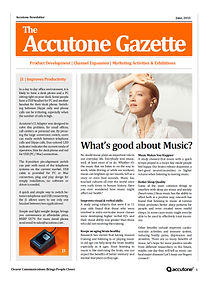Accutone Newsletter June 2015