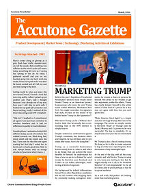 Accutone Newsletter March 2016