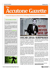 Accutone Newsletter February 2016