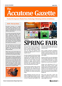 Accutone Newsletter April 2016