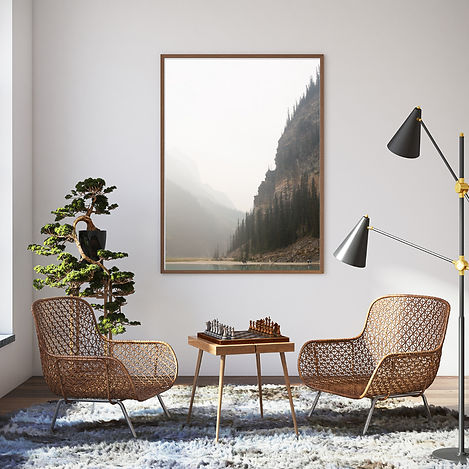 Lake Louise Print in Living Room - Kelsi