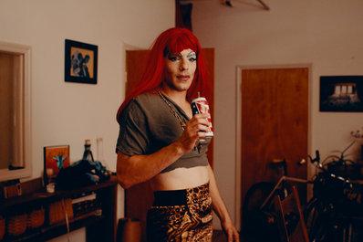 Adam Golub's first time in drag