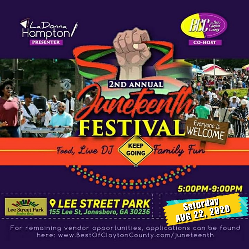 (Aug 22nd) Juneteenth Celebration Festival