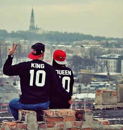Парные свитшоты KING и QUEEN
