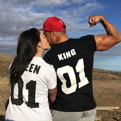 Парные футболки KING и QUEEN