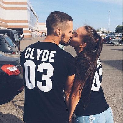Парные футболки BONNIE CLYDE