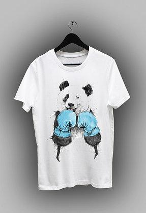 Панда с синими перчатками