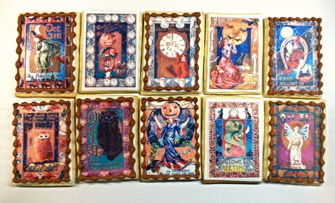 Halloween Tarot Card Cookies