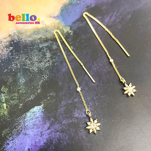 [耳針] 純金色氣質長吊耳環 ER1533-- [香港耳環] [日本耳環][耳環網店]