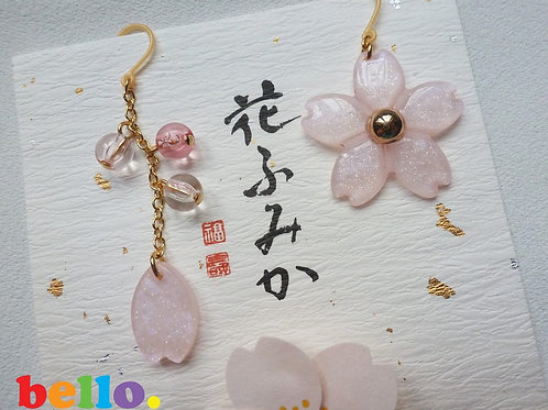 [耳夾&耳針] 粉紅櫻花耳環 ER1100 -- [香港耳環] [日本耳夾][首飾網店]
