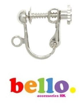 [小物] 螺旋耳夾(1對)- 銀色