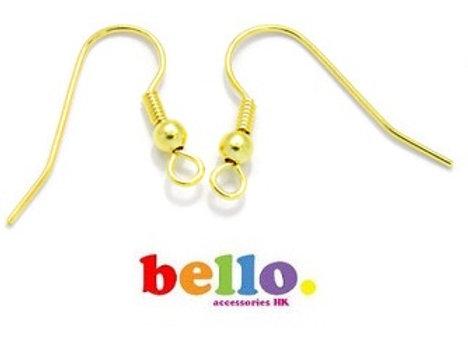[小物] 耳針(一對)-金色