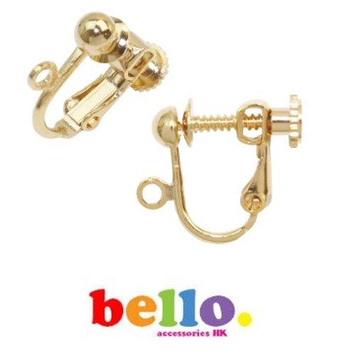 [小物] 螺旋耳夾 (1對)- 金色