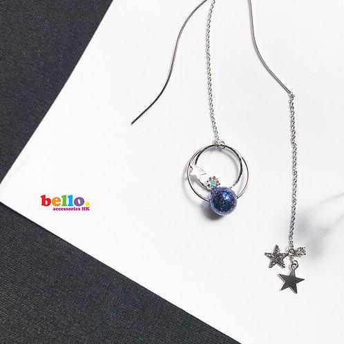 [耳針] 銀河長耳環 ER1525  -- [香港耳環] [日本耳環][耳環網店]