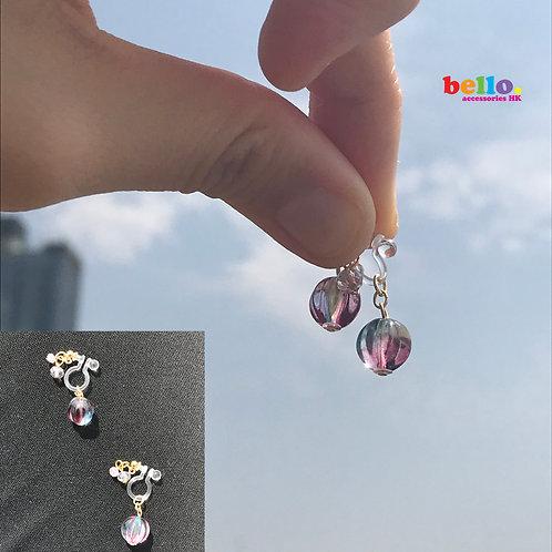 [耳夾] 幻彩透光小球 EC2203 -- [香港耳夾] [日本耳夾][耳夾網店][無痛耳夾]