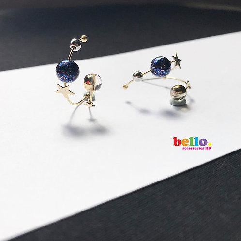[耳針]銀河雙條流星 ER1526  -- [香港耳環] [日本耳環][耳環網店]