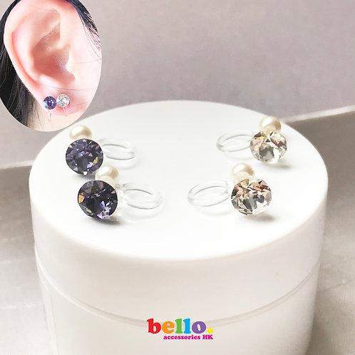 [耳夾] 樹脂夾單粒簡單款 EC2221 -- [香港耳夾] [日本耳夾][耳夾網店][無痛耳夾]